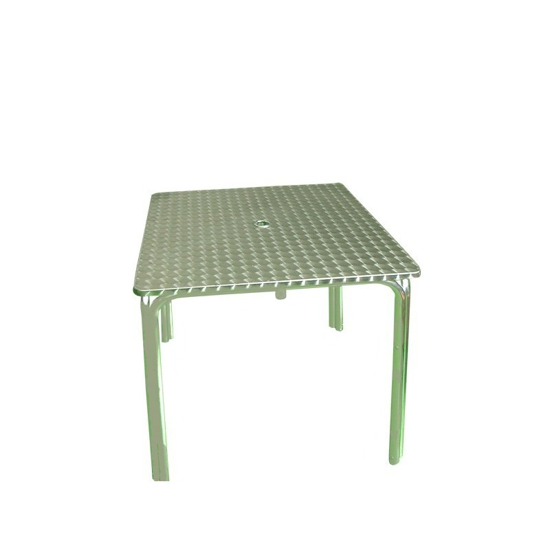 Mesa terraza inox 70x70 para sombrilla