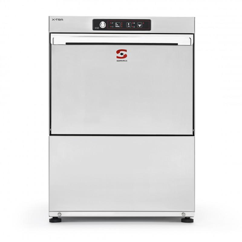 Lavavasos Sammic X40 de 40x40 con aclarado en frío con descalcificador