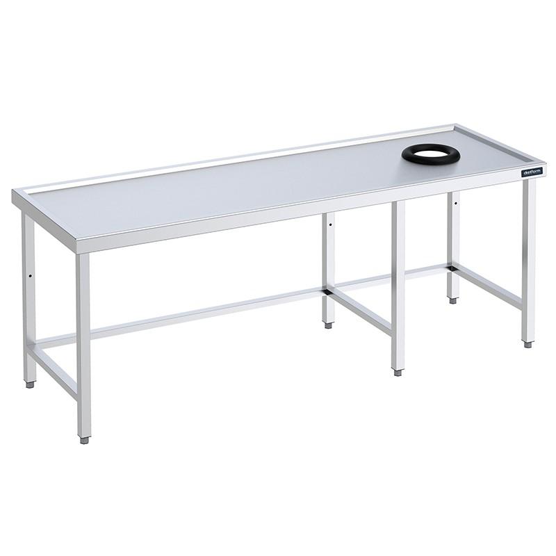 Mesa para lavavajillas con aro desbarazado Distform