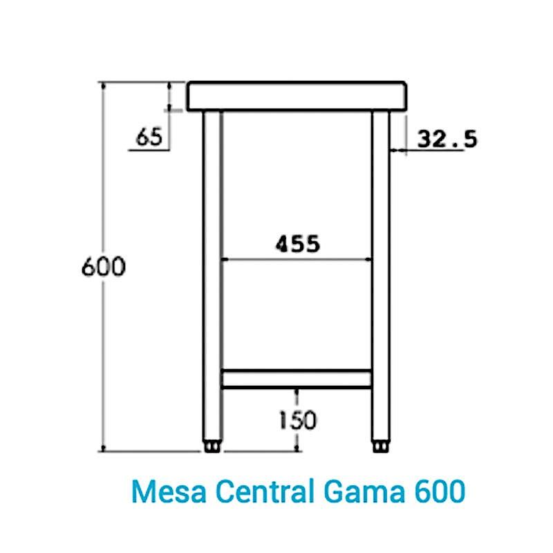 Mesas altura 600 Gama 600 Distform