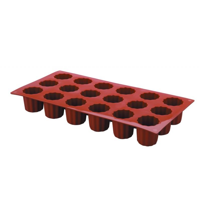Molde silicona mini bordelais 18 cavidades Pastryflex Lacor