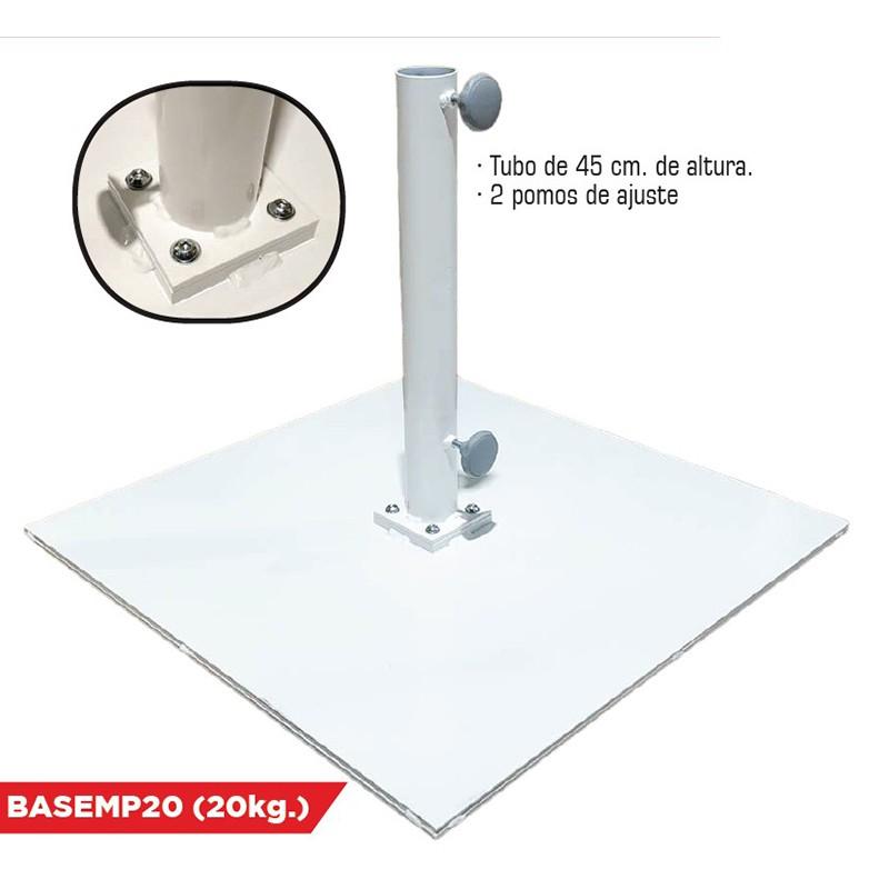 Base metálica mástil ø50mm parasol Conva
