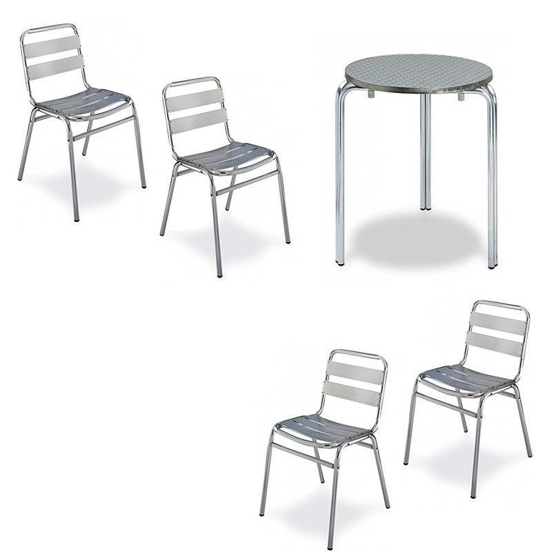 Pack mesa redonda con 4 sillas Muebles Romero