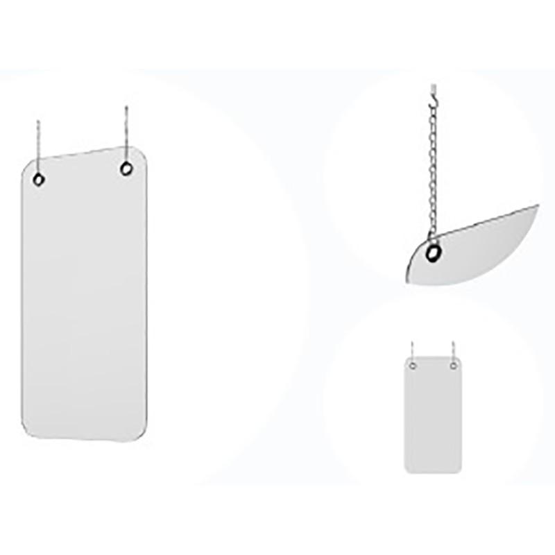 Mampara de protección colgante de grosor 4mm