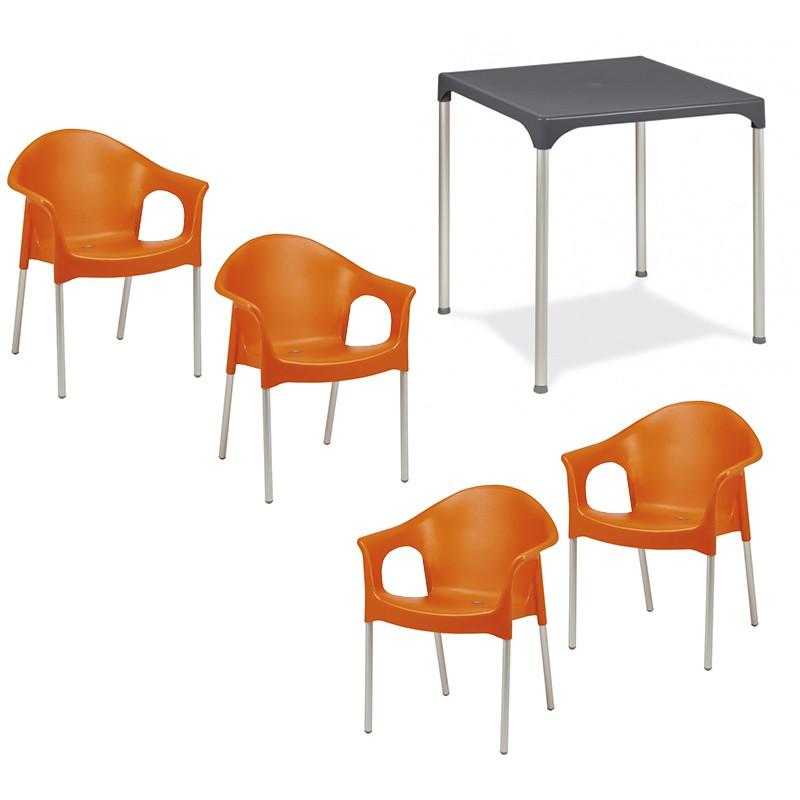 Pack mesa con 4 sillones Muebles Romero