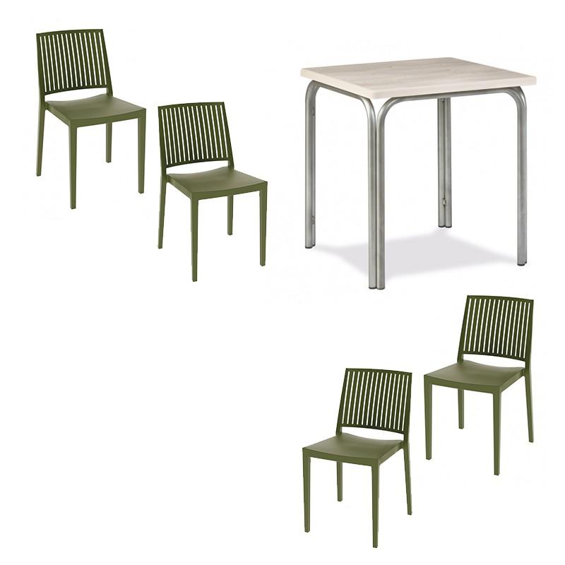Pack Mesa con 4 sillas Muebles Romero