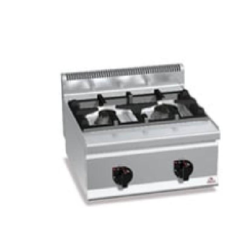 Cocinas a gas 2 fuegos sobremesa high power Plus 600 Bertos