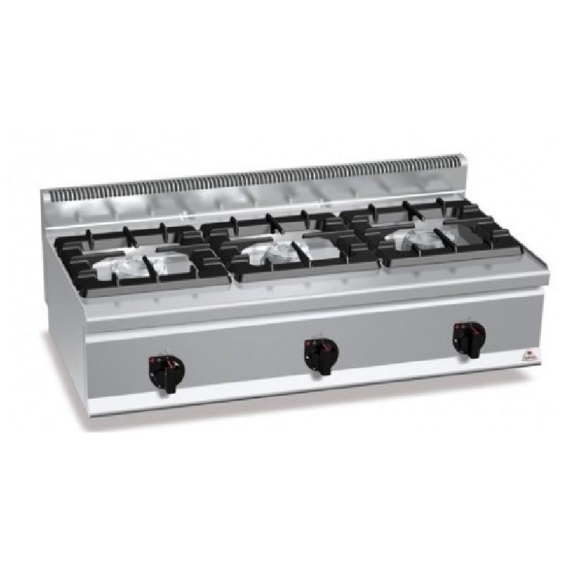 Cocina 3 fuegos a gas serie high power Plus 600 Bertos