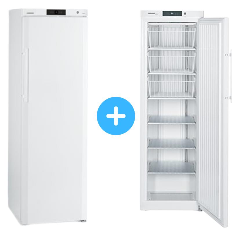 """Conjunto """"side by side"""" Armario ventilado GKv 4310 + Congelador GG 4010 Liebherr"""