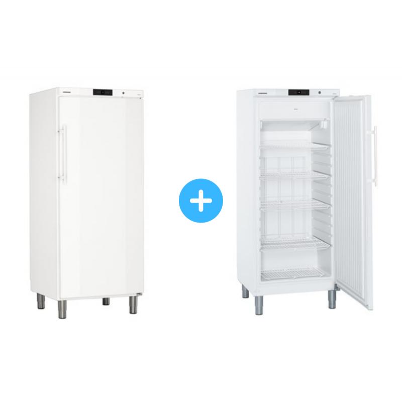 """Conjunto """"side by side"""" Armario frigorífico GKv 5730 + Congelador GGv 5010 Liebherr"""