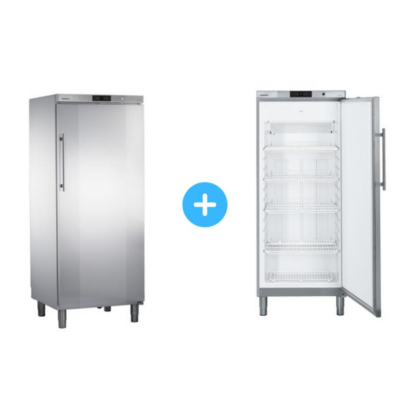 """Conjunto """"side by side"""" Armario frigorífico GKv 5790 + Congelador GGv 5060 Liebherr"""