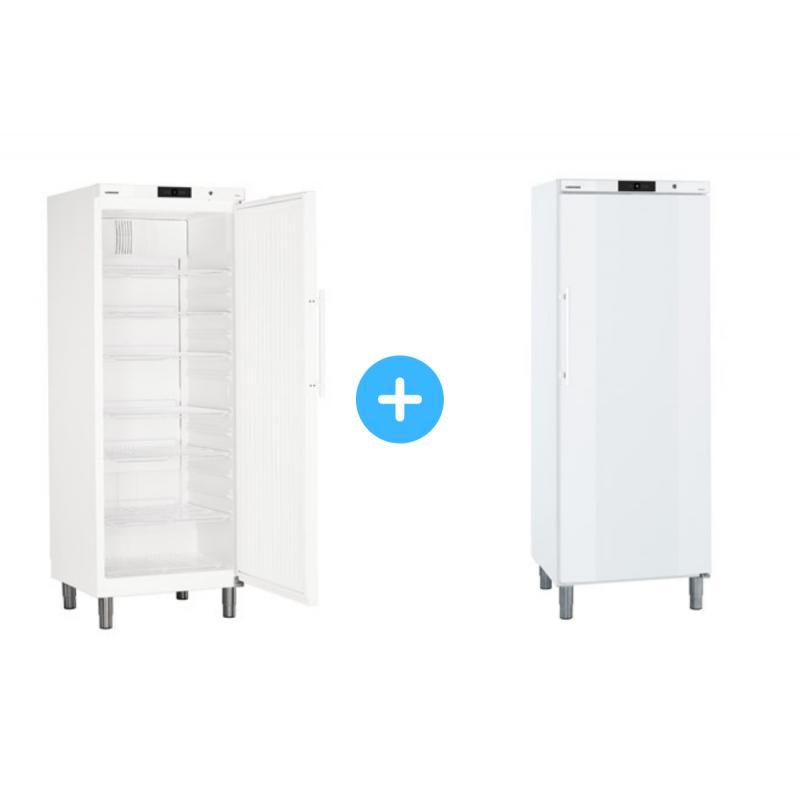 """Conjunto """"side by side"""" Armario frigorífico GKv 6410 + Congelador GGv 5810 Liebherr"""