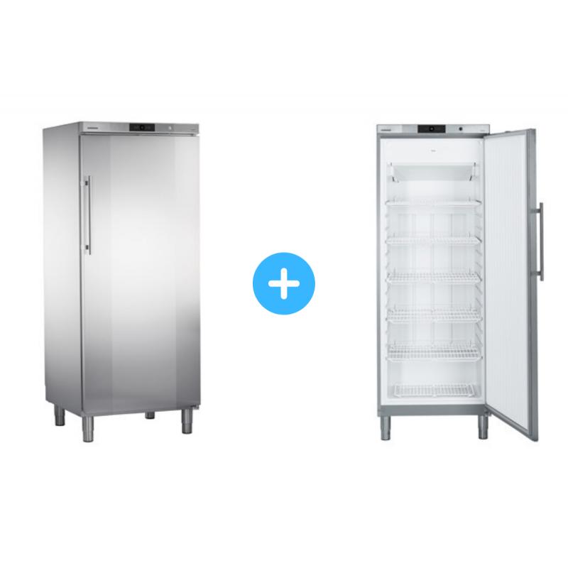 """Conjunto """"side by side"""" Armario frigorífico GKv 6460 + Congelador GGv 5860 Liebherr"""