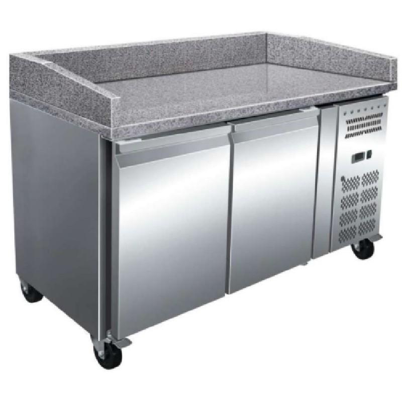 Mesa euroform preparación pizzas encimera de granito fondo 800 línea pekín Clima Hostelería