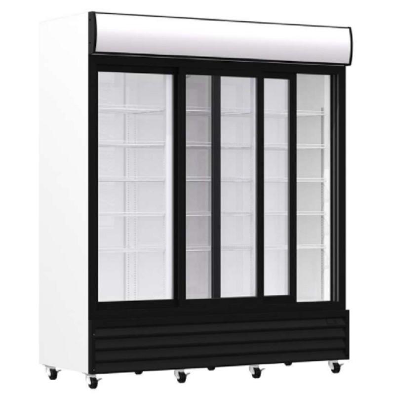 Armario expositor refrigerado 1600 litros con puertas deslizantes línea pekín Clima Hostelería