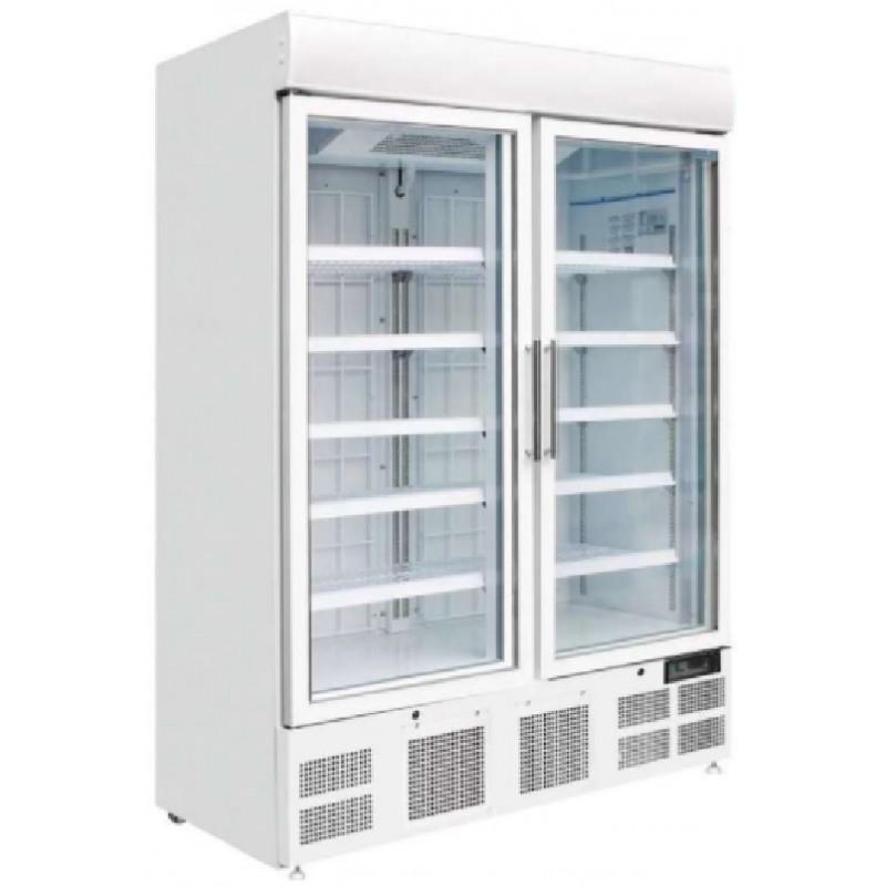 Armario expositor congelados 920 litros de 2 puertas con filo ventilado línea pekín Clima Hostelería