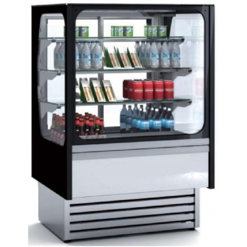 Vitrina refrigerada expositora cristal recto con frío ventilado diseño RG línea córdoba Clima Hostelería