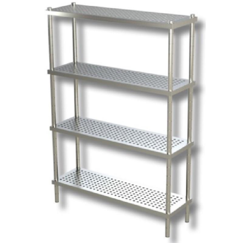 Estantería aluminio con bandejas de polipropileno, 799x370x1700  3 niveles  Distform