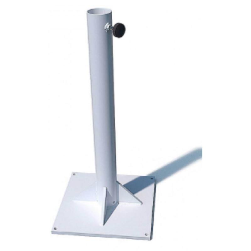 Bases metálicas de fijación para parasoles Conva