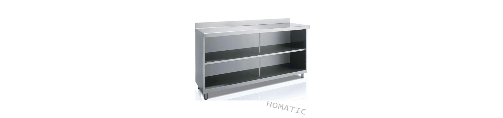 Muebles contramostrador de gran calidad fabricados en acero inoxidable AISI 304 18/10. Compra hoy con garantía.