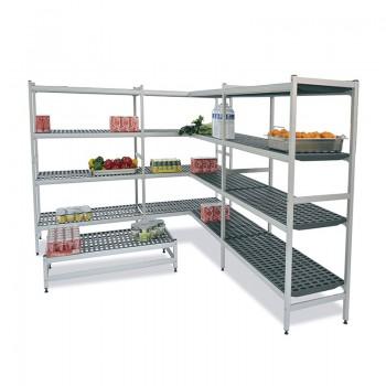 estanterías con estructura en aluminio